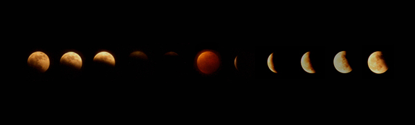 lunar eclipse compilation