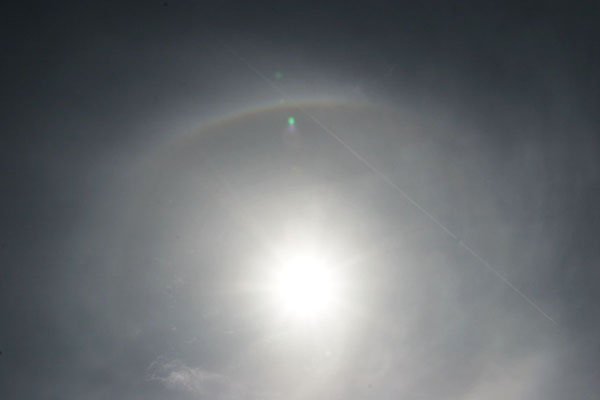 fragment of circumscribed halo and 22° halo