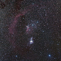nebulosity in orion